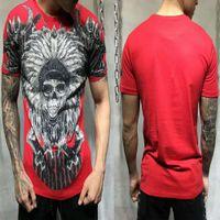 Embalaje de la bolsa PP! Hombre de lujo diseñador camisetas calavera calidad calidad moda moda hombres sueltos camiseta O-cuello más tamaño DY3050 NJ3G