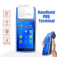 Yazıcılar Taşınabilir Android PDA NFC El Terminali Makbuz Barkod Okuyucu Bluetooth Wifi 3G Dokunmatik Ekran Kamera Şarj Dock1