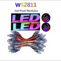 50 قطع 12 ملليمتر WS2811 كامل اللون أدى بكسل ضوء وحدة dc 5 فولت ip68 ماء rgb اللون 2811 1903 ic الرقمية أدى ضوء عيد الميلاد