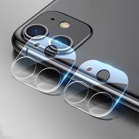 Назад Камера заднего вида объектива закаленное стекло для iPhone 12 Pro Max Mini 11 с флэш-Серкл Полное покрытие экрана Защитная пленка, устойчивый к царапинам