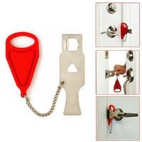 قفل باب السلامة المحمولة محل addalock متوافق لسفر قفل السفر ضد السرقة الأمنية فندق المنزل