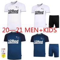 2021 Derby County Football Team Sportswear Rooney Football Shirt Hogar blanco Azul Tercer Pink Lawrence Wahorn adulto personalizado + Niños