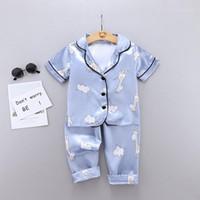 Enfants bébés garçons filles maison vêtements vêtements dessin animé de vêtement de vêtement de vêtement de vêtement de vêtement de vêtement d'été pour garçon pyjamas costumes zm1