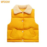 VFOCHI Boy Girl Down Waistcoat Thick Kids Winter Wool Collar...