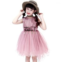 Girls Dress Princess Party Wedding Ball Gowns For Children G...