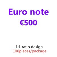 Топ 100 шт. / Упаковка Доллар 500 Подарки Притворит фунт Деньги Денежные копии Банкноты Оптеруга и расходные материалы Качество Коллекция Евро 01 RKRRB