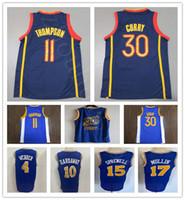 NCAA Mens Klay 11 Thompson Stephen 30 Jersey Curry Wholesale rétro Tim 10 Hardaway 4 Chris Webber Mullin Laitell 15 Subrewell Classic Jersey