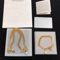 Новое модное ожерелье для женщины золотое ожерелье жемчужное драгоценные камни цепи высококачественной тенденции ожерелье браслет ювелирных изделий