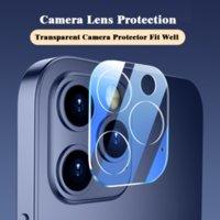 Telefon Lens Ekran Koruyucu iphone 11 12 Serisi Arka Kılıf 3D Şeffaf Çizilmeye Dayanıklı Geri Kamera Temperli Cam Film Kapak