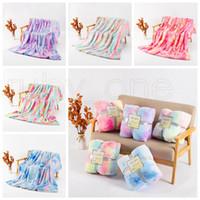 160 * 130cm Tie Dye Fuzzy Lanzamiento Manta Doble Capa Shaggy Mantas Dormitorio Alfombra Ropa de cama Sofá Cubierta 5 diseños Sea Envío RRA3833