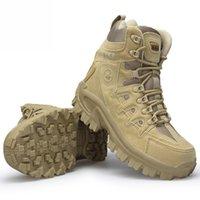 Nova alta qualidade Militar Flock Botas do Deserto Homens Sapatos Tático Botas de Combate Delta Coturos Masculino Militar Botas 40-46 201202
