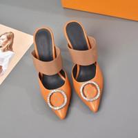 Top Quality 2021 Style de luxe Style Cuir de style de style de luxe Chaussures à talons High-Heeled Femmes Uniques Sandales Lettre Sandales Robe Sexy Robe Chaussures Erdhrt