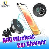 15W 무선 Magsafe 자동차 충전기 마그네틱 adsorbable 전화기 마그네틱 홀더 아이폰 12 Pro Max Izeo에 대 한 무선 빠른 충전기