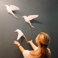 3d ورقة نموذج 3 قطع الطيور papercraft ديكور المنزل جدار الديكور الألغاز التعليمية diy أطفال اللعب هدية عيد 877 Y200413