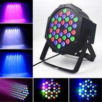 Светодиодные эффекты 18LEDS RGB Внутренний голосовой музыки Активированный наравненный свет для сценического освещения KTV DJ Disco Party вращающаяся лампа лампы