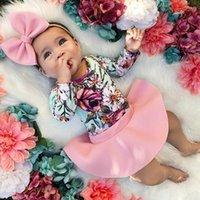 Pudcoco 2020 Verão Infantil Bebé Roupas Floral Romper Jumpsuit Saia Outfit Saia Skirt Set 0-3Y1