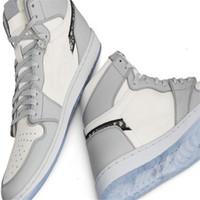 OG High Barate 1 Grey 2020 Mens Baloncesto Zapatillas de baloncesto Dependencia de Zapatillas de deporte 1s grabado en relieve en las cestas de fondo de cristal superior