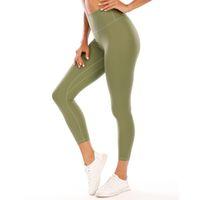L-003 pantalon de yoga pour femmes Gym hautement élastique Lu flexible Tissu Leggings léger Nu Sensation de Yoga Pantalon de Yoga Port de Fitness Port Dames Marque 226 #