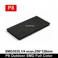 Livraison Gratuite imperméable P8 SMD SMD SMD RGB LED écran écran 256 * 128mm 32 * 16 pixels1