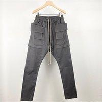 오웬 슈즈 남성 캐주얼 바지 고딕 남자 하렘 스웨트화물 크로스 가벼운 여성 단단한 느슨한 검은 바지 크기 XL 201218