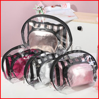 3 in 1 Clear Waterproof Makeup Bags Cosmetic Pouch PVC Zippe...
