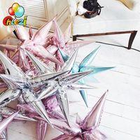 12шт взрывные звезда воздушные шары на день рождения партии открытия церемония свадебные украшения капля воды конус фольги воздушные шары