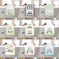 Joyeuses Pâques Table de lapin de Pâques Pâques Multi-Taille Pâques Gnome Rabbit Bunny Bunny Table de linge Runner Accueil Partie de cuisine Décoration de cuisine