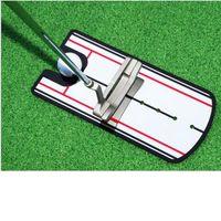 Гольф, положить зеркальное выравнивание Учебное пособие на помощь тренажер для глаз линии гольф-практика, положить зеркало Большое гольф-практическое зеркало