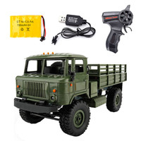 Control remoto WPL B-24 Camión militar DIY Off-Road 4WD RC Coche 4 ruedas Buggy Drive Escalada GAZ-66 Vehículo para el regalo de cumpleaños Juguete 201202