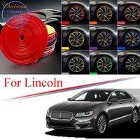 8M Multi-Colors Car Wheel Hub Rim Trim for Lincoln MKC MKZ MKX Corsair Nautilus Edge Protector Ring Tire Strip Guard Rubber Stickers