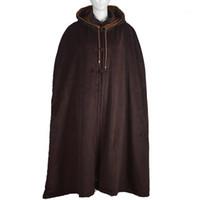 Unisex Winter Warme Buddhistische Abt Mönche Wolle Cape Meditation Mantel Robe Zen Kleid Uniformen Martial Arts Anzüge Braun1