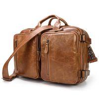 حقائب حقائب متعددة الوظائف جلد طبيعي محمول حقيبة الرجال حقيبة الكتف أعلى جودة حقيقية بقرة crossbody حقائب الذكور رسول