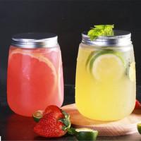 500ml Pet Tasse Kaltmilch Tee Getränk Flasche U-förmige Einweg-Kunststoffverpackung Kühle Saft Flasche Lagerflasche