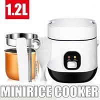 1.2L 350W 220V mini fogão de arroz elétrico 2 camadas aquecedor de aquecimento multifunction refeição cozinhar sopa pote 1-2 pessoas lancheira1