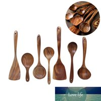 Vajilla de madera natural Utensilios de bambú Cuchara de madera Shovel Herramientas de cocina