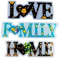 Love Home Famille Famille Moule de silicone Love Résine Moule d'amour Signe de Moule Moule Moule de résine époxy pour DIY Table Decoration Art Artisanat OWE3492