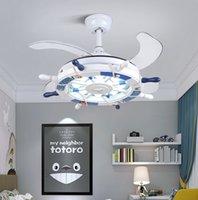 Северная детская спальня декор светодиодный потолочный вентилятор свет лампы столовая потолочные вентиляторы с огнями дистанционного управления лампами для гостиной