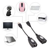 2020 USB 2.0 bis RJ45 Ethernet-Erweiterungskabel Extender Network Adapterkabel Kabelgebundener LAN für MacBook
