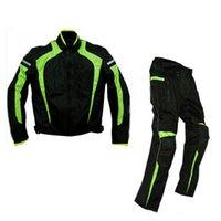 Herren Team Motorradjacke Kleidung Rennreiten Pants Moto Motocross Winddicht Warme Off-Road Trotiver Hosenanzug für Kawasaki