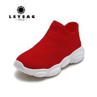 LSYSAG 100% Pamuk Çocuk Çorap Ayakkabı Erkek Kız Çocuk Sneakers Ayakkabı Eğitmenler Chaussure Enfant Küçük Ayak Y201028