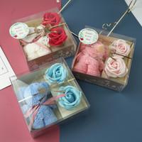 Rose Bär Valentines Tag Geschenke Bäretuch Simulation Blume Geschenkboxen Seifenblumen Valentines Tag Party Favor XD24413