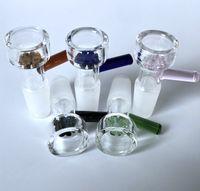 도매 유리 그릇 10mm 유리 파이프 및 물 봉에 대 한 14mm 18mm 남성 관절 꽃 눈송이 필터 유리 그릇 흡연 그릇