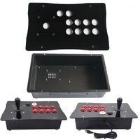 Игровые контроллеры джойстики DIY Happ Compant Arcade Fight Stick джойстик металлический корпус и акриловая панель большого размера1