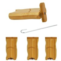 Cournot Natural Bamboo Box Case Case с металлической сигаретой одной гитарной летучей мышью ручной работы табак землю