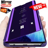Smart Mirror Flip Case for Samsung Galaxy S10 S9 S8 S20 Plus غطاء هاتف Ultra S10E ل Samsung Note 8 9 10 20 Plus S7 Edge Case