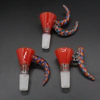 corno ciotola 3 in 1 insieme Accessori colore bel gancio ciotola trasporto libero 14 millimetri Maschio comune maniglia fumatori per i tubi di acqua Bong