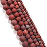 1strand الكثير الحجر الطبيعي ممل البولندية ماتي الأحمر بحي جاسبرز الخرزة جولة جوهرة فضفاض فاصل الخرز للمجوهرات صنع اللوازم h bbyxlv