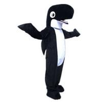검은 상어 돌고래 마스코트 의상 만화 캐릭터 성인 SZ 100 % 실제 사진 223