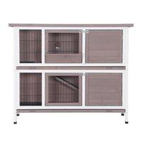 Waco 48in zwei Stockwerke Holzkaninchen Hutch, Haustier Chicken Coop House Outdoor Bunny Hutch Henne Käfig