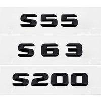 Lid Trunk Lid الخلفية شارة شارة كروم رسائل ملصق ل مرسيدس بنز S- فئة S55 S63 S200 AMG W111 W116 W126 W140 W220 W221 W222